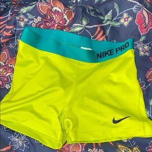 Neon Green Nike Pro